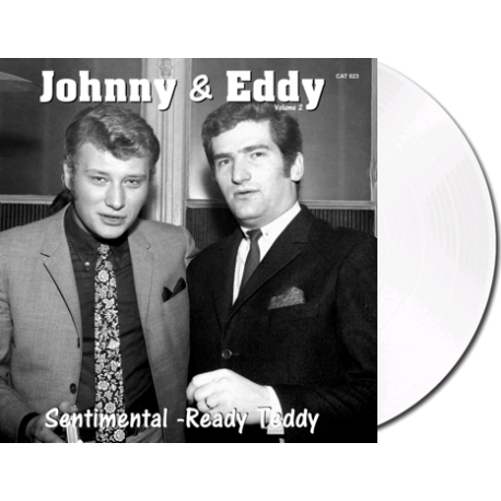 JOHNNY et EDDY - SENTIMENTAL / READY TEDDY - VINYLE BLANC OPAQUE